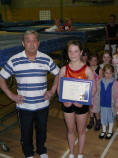 Charlotte Webb being presented with Jack Petchey award