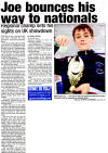 Report on Joe Harris in Echo on 13th February 2012
