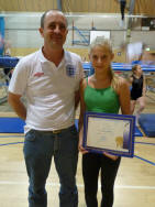 Lucy Phillips receiving JP from Stuart Kelly